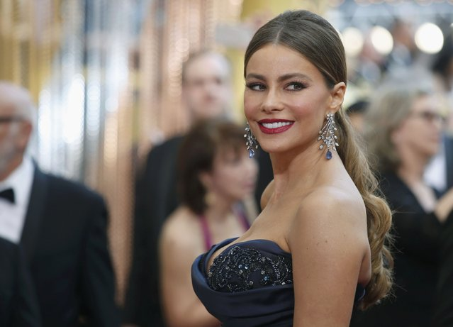 Presenter Sofia Vergara arrives at the 88th Academy Awards in Hollywood, California February 28, 2016. (Photo by Adrees Latif/Reuters)