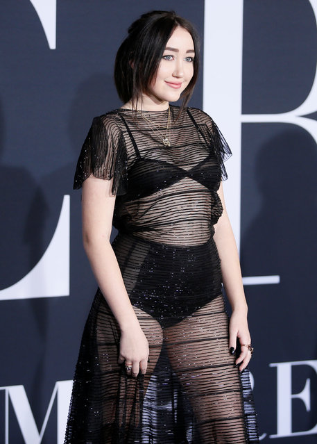 """Singer Noah Cyrus poses at the premiere of the film """"Fifty Shades Darker"""" in Los Angeles, California, February 2, 2017. (Photo by Danny Moloshok/Reuters)"""
