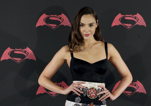 """Actress Gal Gadot poses during a photocall to promote the movie """"Batman v Superman: Dawn Of Justice"""" in Mexico City, Mexico, March 19, 2016. (Photo by Henry Romero/Reuters)"""