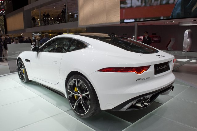 The New Jaguar F-Type is  on display  at the 84.  Geneva International Motor Show in Geneva, Switzerland, Tuesday, March 4, 2014.  (Photo by Sandro Campardo/AP Photo/Keystone)