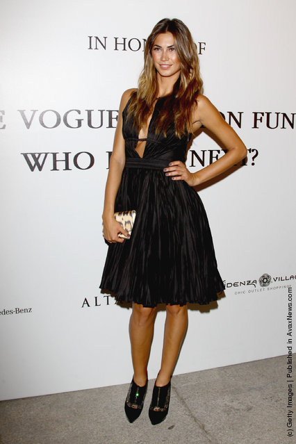 Melissa Satta  attends The Vogue Fashion Fund Who Is On Next? party dring Milan Fashion Week Womenswear Spring/Summer 2012 at Palazzo Morando