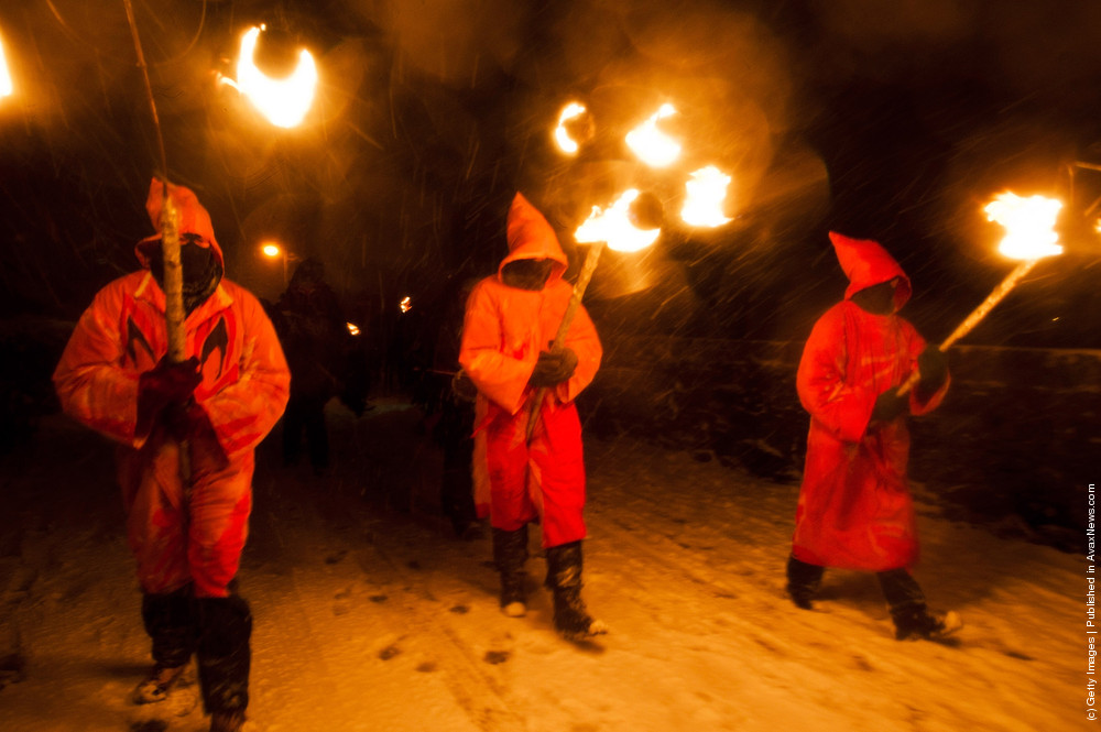 Enthusiasts Enjoy The Marsden Imbolc Fire Festival 2012