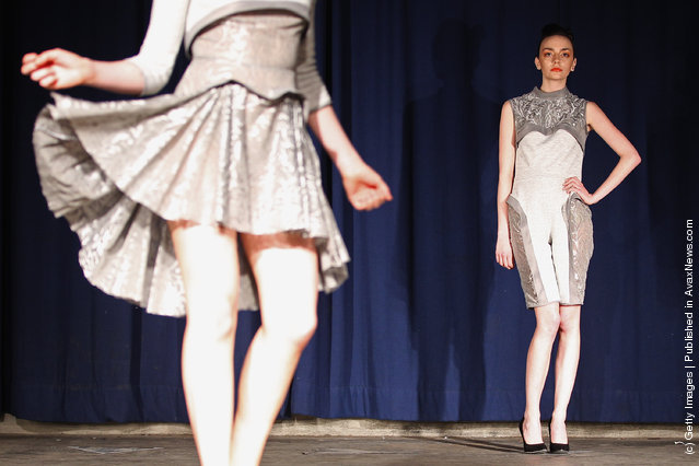 Models take part in the Glasgow School of Art Fashion show