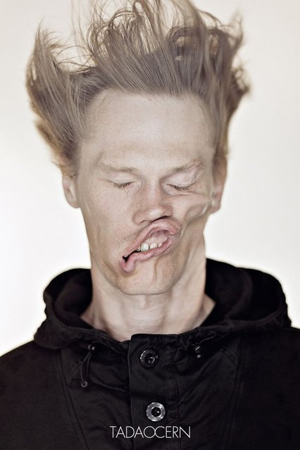 """Blow Job"": Gale-force Wind Portraits by Tadao Cern"