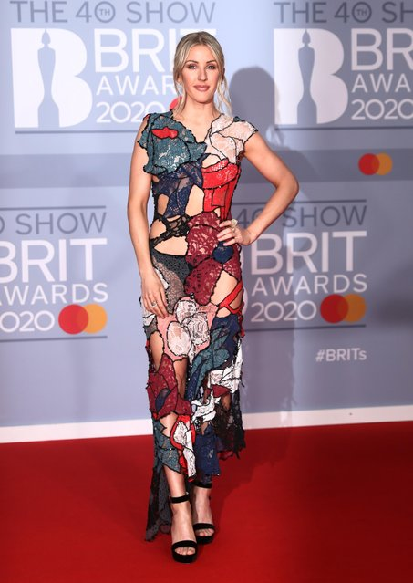 Ellie Goulding poses as she arrives for the Brit Awards at the O2 Arena in London, Britain, February 18, 2020. (Photo by Simon Dawson/Reuters)