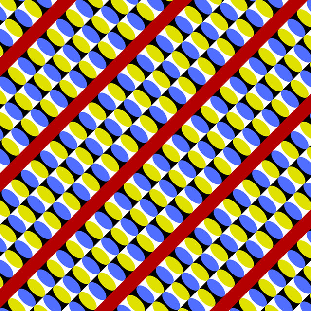 Coveyors appear to move. (Photo by Akiyoshi Kitaoka/Caters News)