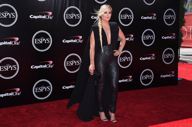 Alpine ski racer Lindsey Vonn arrives at the ESPY Awards at the Microsoft Theater on Wednesday, July 13, 2016, in Los Angeles. (Photo by Jordan Strauss/Invision/AP Photo)