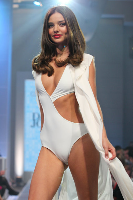 Miranda Kerr looking stunning at the David Jones fashion show in Sydney