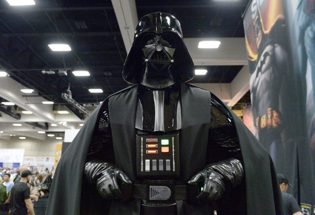 Darth Vader cosplayer attends Comic-Con International 2016 preview night on July 20, 2016 in San Diego, California. (Photo by Matt Cowan/Getty Images)
