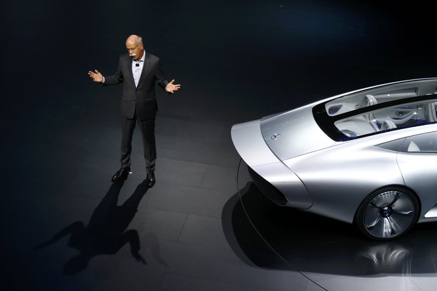 Daimler CEO Dieter Zetsche presents the Mercedes-Benz Concept IAA car during the media day at the Frankfurt Motor Show (IAA) in Frankfurt, Germany, September 15, 2015. (Photo by Ralph Orlowski/Reuters)