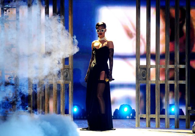 Rihanna performs during the 2012 Victoria's Secret Fashion Show. (Photo by Charles Sykes/Evan Agostini)