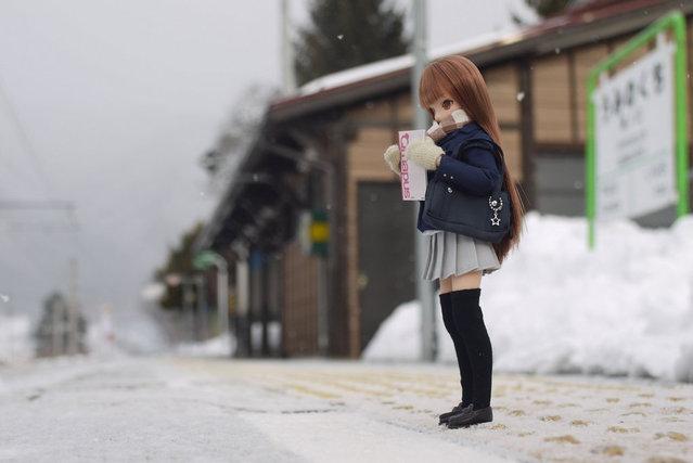 """Waiting for the train"". (Mikeyan Tamano)"