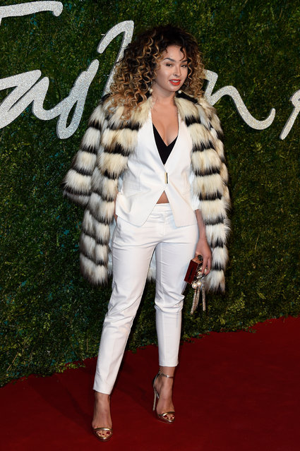 Ella Eyre attends the British Fashion Awards at London Coliseum on December 1, 2014 in London, England. (Photo by Pascal Le Segretain/Getty Images)