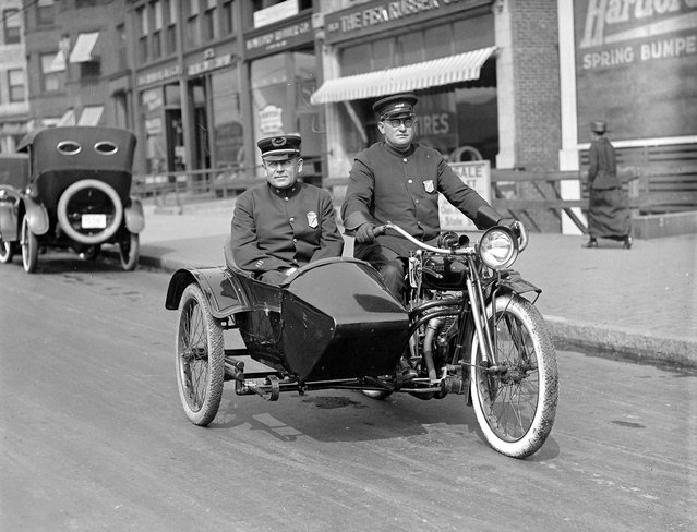 Capt. Bernard J. Hoppe of the Boston Traffic squad. He made Captain on Thanksgiving, 1920 by Commissioner Curtis. (Photo by Leslie Jones)