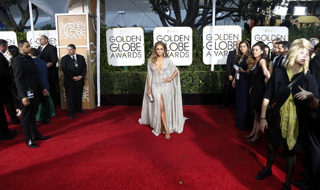 Actress Jennifer Lopez arrives at the 72nd Golden Globe Awards in Beverly Hills, California January 11, 2015. (Photo by Mario Anzuoni/Reuters)