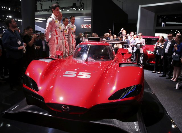 Mazda's RT24-P prototype car is pictured at the 2016 Los Angeles Auto Show in Los Angeles, California, U.S November 16, 2016. (Photo by Lucy Nicholson/Reuters)