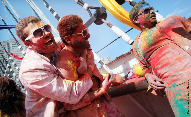 Indian Festival Of Holi Celebrated In Manhattan