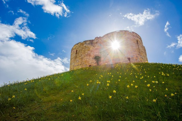 Cliffords Tower, York on April 6, 2016. (Photo by Dave Zdanowicz/Rex Features/Shutterstock)
