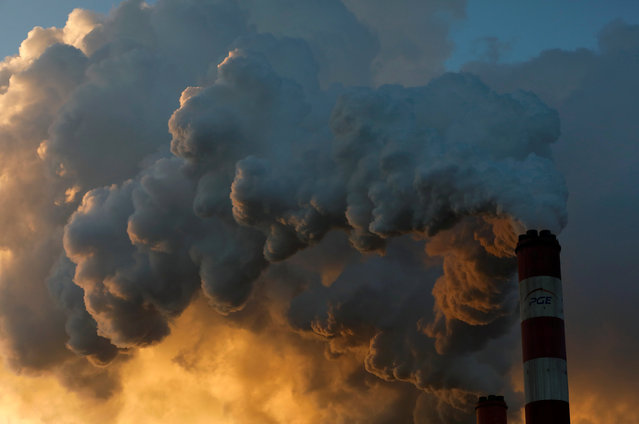 Smoke and steam billows from Belchatow Power Station, Europe's largest coal-fired power plant operated by PGE Group, near Belchatow, Poland on November 28, 2018. (Photo by Kacper Pempel/Reuters)