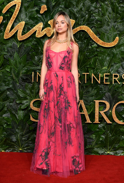 Lady Amelia Windsor arrives at The Fashion Awards 2018 In Partnership With Swarovski at Royal Albert Hall on December 10, 2018 in London, England. (Photo by Jeff Spicer/BFC/Getty Images for BFC)