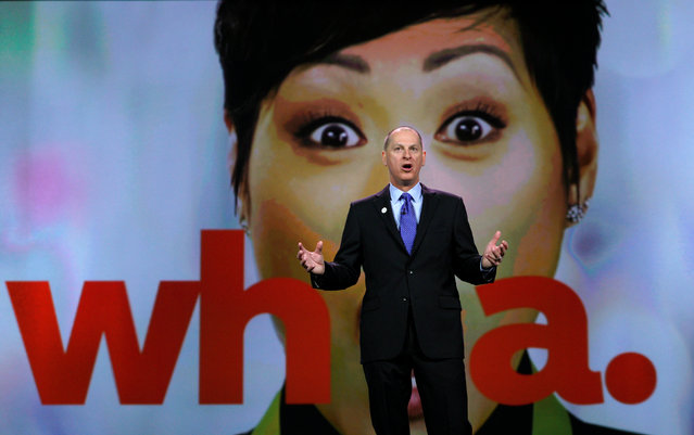 Gary Shapiro, president and CEO of the Consumer Technology Association delivers his keynote address at CES in Las Vegas, U.S., January 5, 2017. (Photo by Rick Wilking/Reuters)