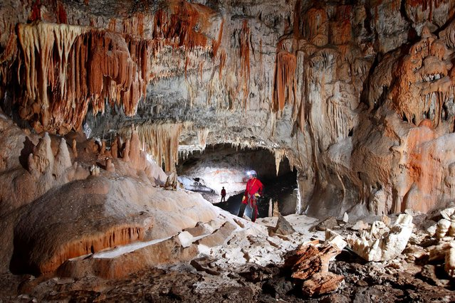Bestazovca Cave where the first cave paintings were found in Slovenia in 2009. (Photo by Peter Gedei/Caters News)