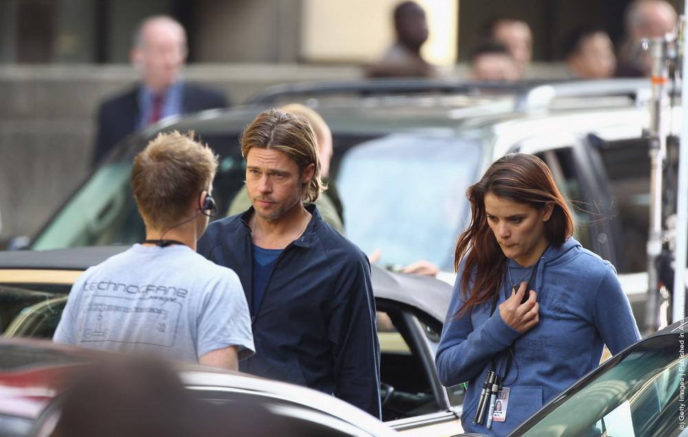 Filming Continues On World War Z Starring Brad Pitt In Cardonald