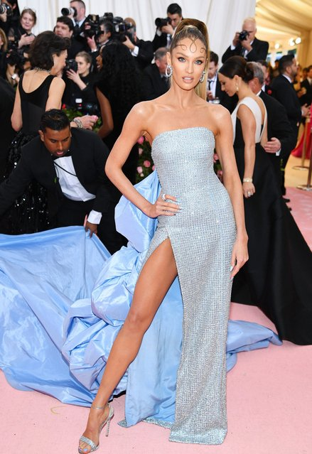 Candice Swanepoel attends The 2019 Met Gala Celebrating Camp: Notes on Fashion at Metropolitan Museum of Art on May 06, 2019 in New York City. (Photo by Dimitrios Kambouris/Getty Images for The Met Museum/Vogue)