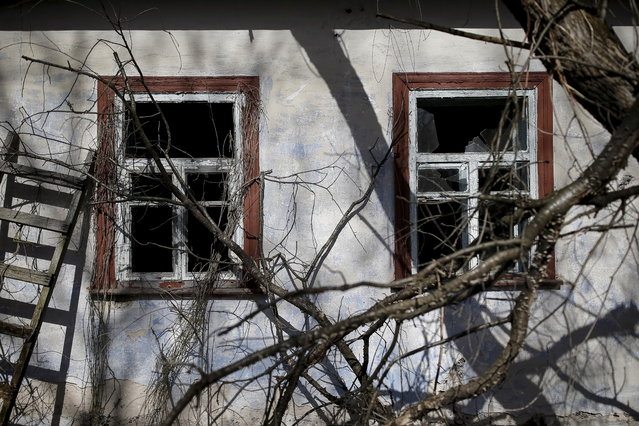 A house is seen in the abandoned village of Zalesye near the Chernobyl nuclear power plant in Ukraine on March 28, 2016. (Photo by Gleb Garanich/Reuters)