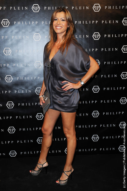 Susanna Petrone attends the Philipp Plein Urban Jungle Spring/Summer 2012 fashion show as part Milan Womenswear Fashion Week