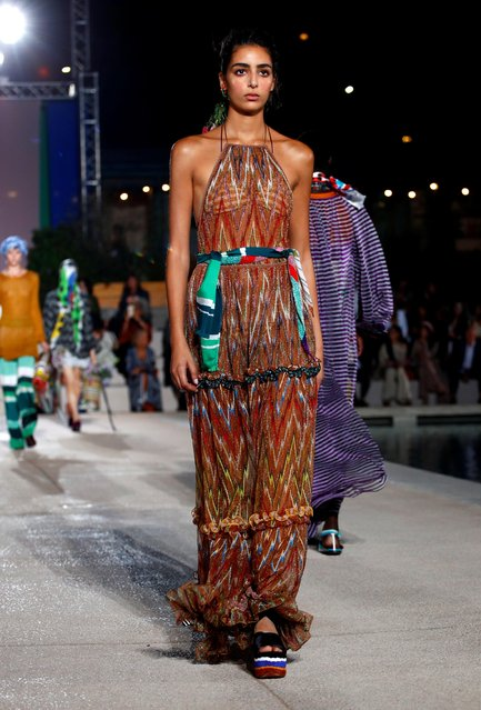 A model presents a creation from the Missoni Spring/Summer 2020 collection during fashion week in Milan, Italy, September 21, 2019. (Photo by Alessandro Garofalo/Reuters)