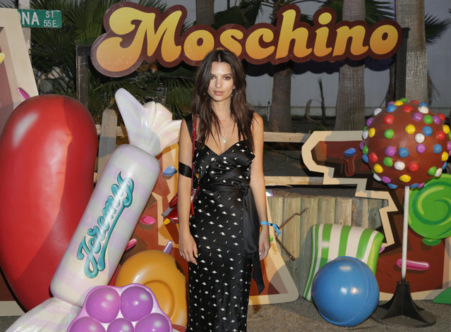 Emily Ratajkowski attend the Moschino Candy Crush Desert Party hosted by Jeremy Scott on April 15, 2017 in Coachella, California. (Photo by Jerritt Clark/Getty Images for M Booth/King Digital)