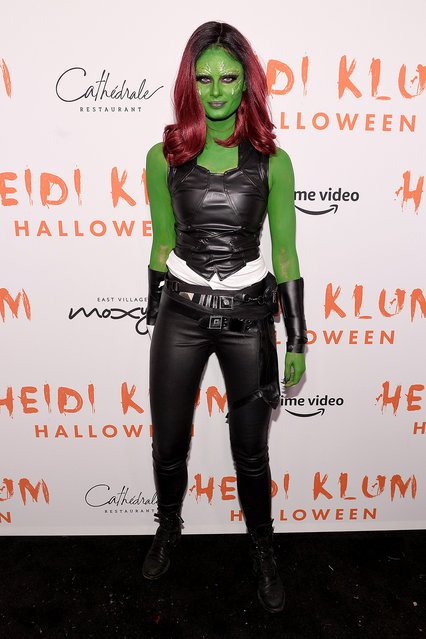 Taylor Hill attends Heidi Klum's 20th Annual Halloween Party presented by Amazon Prime Video and SVEDKA Vodka at Cathédrale New York on October 31, 2019 in New York City. (Photo by Noam Galai/Getty Images for Heidi Klum)