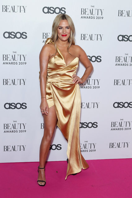 English radio and television presenter Caroline Flack attends The Beauty Awards 2019 on November 25, 2019 in London, England. (Photo by Splash News and Pictures)