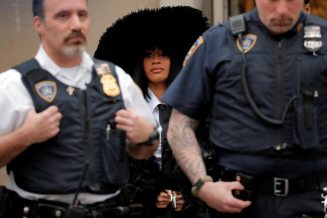 Singer Cardi B departs Queens County Criminal Court in the Queens Borough of New York, U.S., December 10, 2019. (Photo by Lucas Jackson/Reuters)