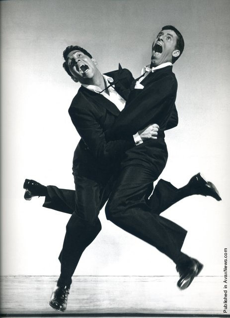 American actors Dean Martin and Jerry Lewins, 1951. Photo by Philippe Halsman