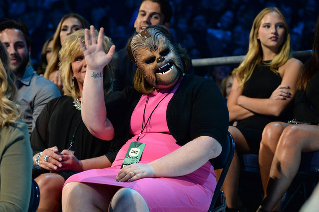 """Chewbacca Mom"" Candace Payne attends the 2016 CMT Music awards at the Bridgestone Arena on June 8, 2016 in Nashville, Tennessee. (Photo by Kevin Mazur/WireImage)"