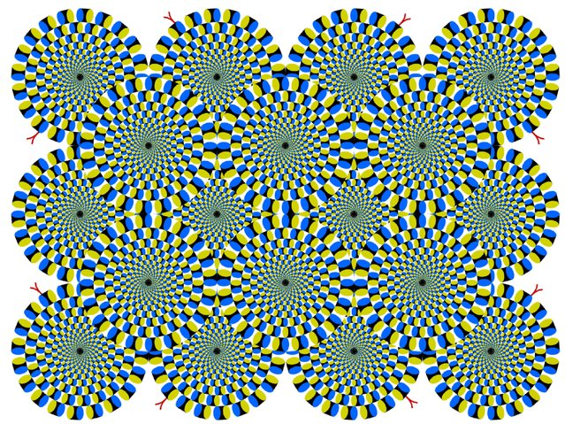 Circular snakes appear to rotate spontaneously. (Photo by Akiyoshi Kitaoka/Caters News)