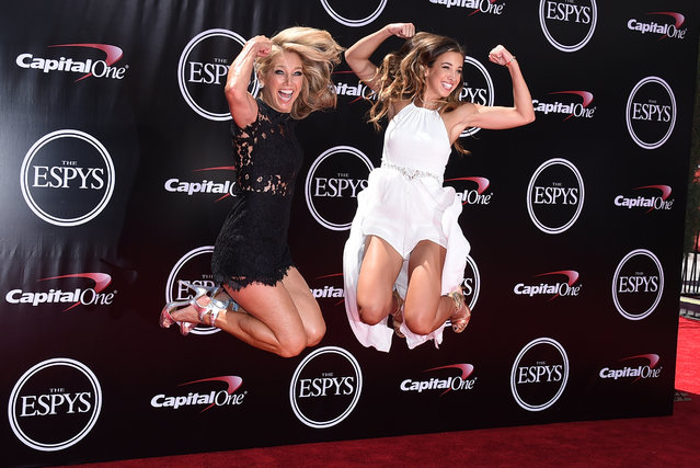 Personal trainer, Denise Austin, and Katie Austin arrive at the ESPY Awards at the Microsoft Theater on Wednesday, July 13, 2016, in Los Angeles. (Photo by Jordan Strauss/Invision/AP Photo)