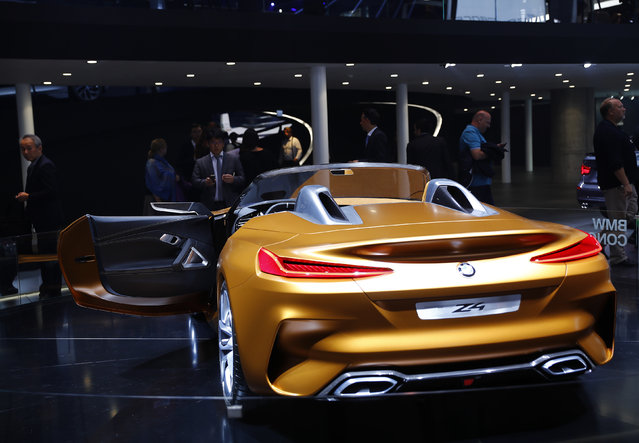 A BMW Z4 concept car is displayed during the Frankfurt Motor Show (IAA) in Frankfurt, Germany September 11, 2017. (Photo by Kai Pfaffenbach/Reuters)