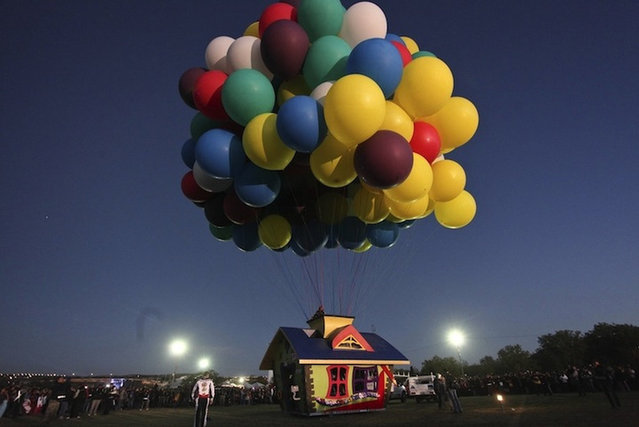 Real-life Up House Flys