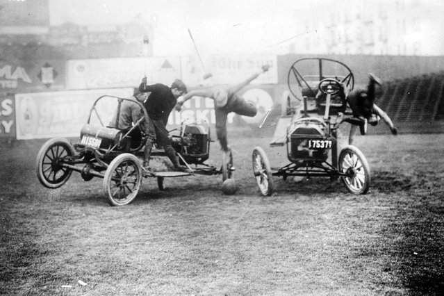 Auto polo, Coney Isl. Between ca. 1910 and ca. 1915. (Photo by George Grantham Bain Collection)