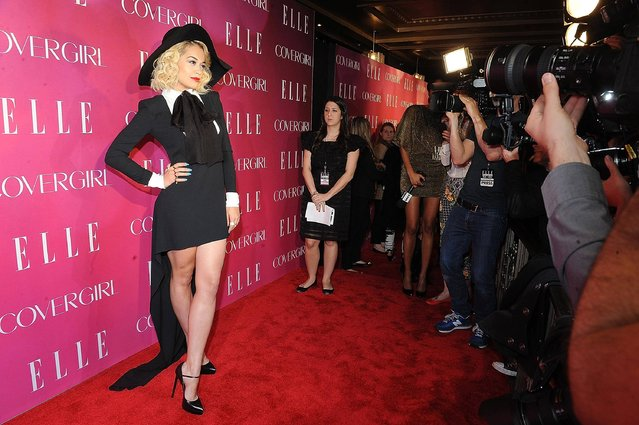 Singer Rita Ora attends the 4th Annual ELLE Women in Music Celebration on Wednesday, April 10, 2013 in New York. (Photo by Brad Barket/Invision/AP Photo)