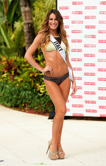 Miss Italy Valentina Bonariva  participates in Miss Universe – Yamamay Swimsuit Runway Show at Trump National Doral on January 14, 2015 in Doral, Florida. (Photo by Gustavo Caballero/Getty Images)
