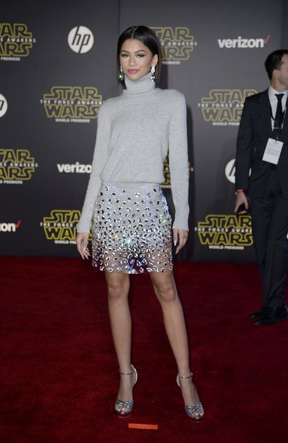 "Singer Zendaya arrives at the premiere of ""Star Wars: The Force Awakens"" in Hollywood, California December 14, 2015. (Photo by Kevork Djansezian/Reuters)"