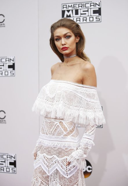 Model and host of the American Music Awards Gigi Hadid arrives at the 2016 American Music Awards in Los Angeles, California, U.S., November 20, 2016. (Photo by Danny Moloshok/Reuters)