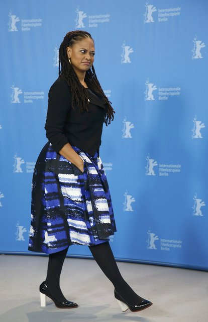 "Director Ava DuVernay poses during a photocall to promote the movie ""Selma"" at the 65th Berlinale International Film Festival, in Berlin February 10, 2015. (Photo by Hannibal Hanschke/Reuters)"