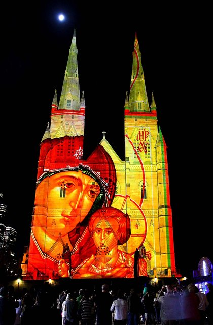 The 2013 Lights Of Christmas are launched at St. Mary's Cathedral in Sydney, Australia. (Photo by Lisa Maree Williams/Getty Images)