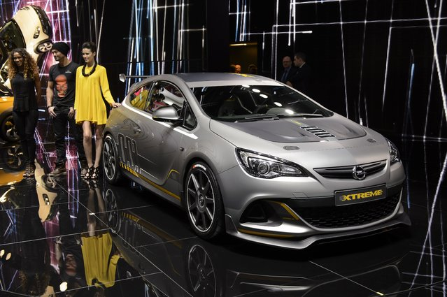 The new Opel Astra OPC Extreme is  on display  at the 84.  Geneva International Motor Show in Geneva, Switzerland, Tuesday, March 4, 2014. (Photo by Martial Trezzini/AP Photo/Keystone)