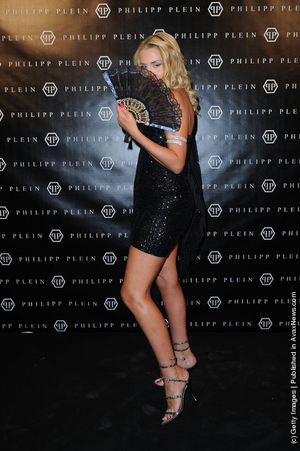 Valeria Marini attends the Philipp Plein Urban Jungle Spring/Summer 2012 fashion show as part Milan Womenswear Fashion Week